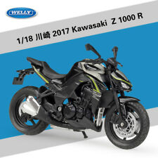 1:18 Welly 2017 Kawasaki Z1000R Motorcycle Bike Model Black
