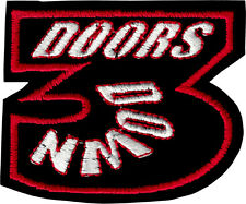 19131 Three (3) Doors Down Logo Patch Sew Iron On Hard Alt Rock Badge Applique