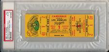 SANDY KOUFAX 10K's July 1 1966 Los Angeles Dodgers / Cardinals Full Ticket PSA 6