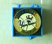 New York Yankees 38th World Series 2001 Media Press Pin, New in Box.  Rare.