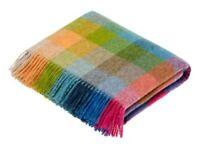 Bronte by Moon Harlequin Tutti Frutti Wool Throw British Made