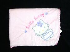 Lambs & Ivy Sanrio Hello Kitty Baby Blanket Pink Purple Security Lovey 30 x 40
