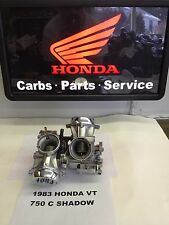 1983 HONDA SHADOW VT 750 C REMANUFACTURED KEIHIN CARBS CARBURETORS READY TO RUN