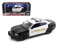 1/24 MOTORMAX 2011 Dodge Charger Pursuit San Gabriel Police Car Model 76936
