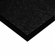 Black PG HDPE (High Density Polyethylene) Sheet, 1.000 (1 inch) x 6
