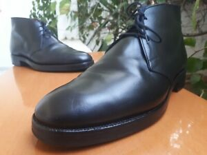 Crockett & Jones CHILTERN Men's Black Leather Chukka Boots Sz US 9 || UK 8 E