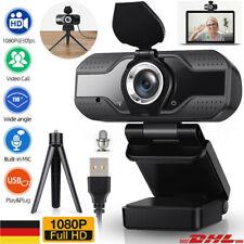 1080p HD Webcam USB 2.0 3.0 Mikrofon Webkamera für Laptop PC Kamera + Halterung
