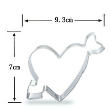 Heart Love Biscuit Cookie Cutter Fondant Cake Decorating Baking Mould Hot