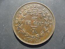 British North Borneo One Cent 1887H. High Grade.