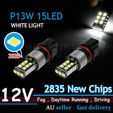 Canbus White P13W 2835 15 LED Daytime Running Lights Bulb For Audi A4 A6 Q5 Q7