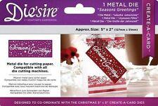 """NEW Diesire 5"""" x 2"""" Create a Card - 'Seasons Greetings' Christmas Die 🎄"""