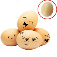 10pcs Nice Artificial Nest Egg Fake Food Dummy House Decor Plastic Egg Toy #am8