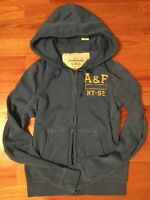 NWT Abercrombie Fitch by Hollister Men Hoodie Sweatshirt Blue Large