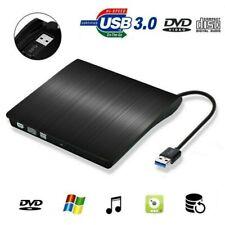 Externes DVD Laufwerk USB 3.0 Brenner Slim CD DVD-RW Brenner für PC Laptop Mac D