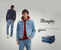 Wrangler Jeans Iconic Men's  Stretch Denim Pants Trousers Bottom Regular Fit