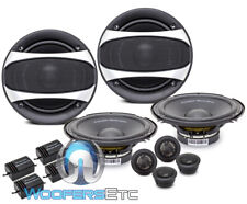 "2 sets POWER ACOUSTIK GF-60C 6.5"" 350W COMPONENT SPEAKERS TWEETERS CROSSOVERS"