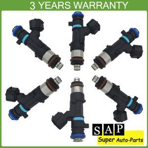 Set of 6 Fuel Injectors For Nissan Frontier Xterra 4.0L 0280158007 16600-7S000