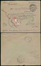 GERMANY to TURKEY 1923 Inflation REGISTERED WIESBADEN..TAXE PERCUE..IONIAN BANK
