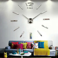 Fashion Wall Clock 3D Rushed Mirror Wall Stickers DIY Living Room Home Decor