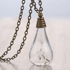 Wish Bottle Pendant Necklace Women Jewelry Dried Flower Real Dandelion Seed Best
