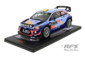 Hyundai i20 Coupe WRC Rallye Monte Carlo 2018 Night Version Mikkelsen 1:18 IXO