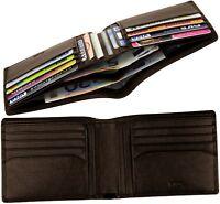 NAVA Brieftasche - ohne,kein Münzfach - Portemonnaie Leder Geldbeutel Geldtasche