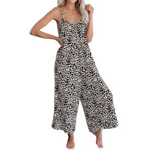 Women's V-neck Summer Hareem Ladies Beach Harem Jumpsuit Play-suit Plus Size NEW
