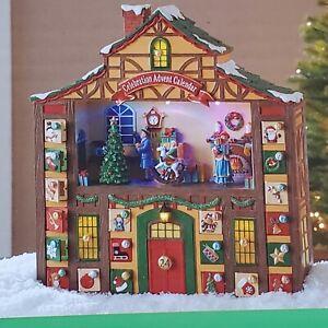 LED Animated Musical Christmas Advent Calendar 16 inch Tall Plays 8 Songs New