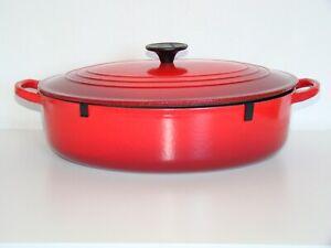Le Creuset Gourmet Bräter, oval 32cm , 4,7L ,Gusseisen, Kirschrot