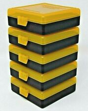 22 lr Ammo Box / Case / Storage (5 Pack) Capacity 100 / Yellow Top-Black Bottom