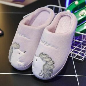 Women's Hedgehog Soft Slippers High Graded Quality Solid Rubber Plush Foot-Wears