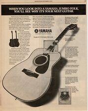 1977 Yamaha FG-375s Jumbo Folk Guitar Vtg Print Ad