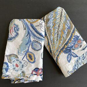 2 Pottery Barn Merion Palampore Standard Shams Pillowcase Floral Paisley