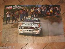 # POSTER LANCIA DELTA CERRATO/CERRI CAMPIONI ITALIANI RALLY 1989 CM.81X54 AE24