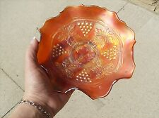 CARNIVAL GLASS MARIGOLD, GRAPES AND CABLE DISH