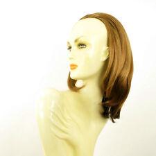 Demi-tête, demi-perruque lisse 40cm blond foncé cuivré ref 021 en g27