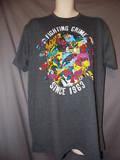 mens spider-man comic style t-shirt L nwt fighting crime since 1963