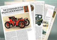 Old FIAT Cars History Article /Photo's / Pictures: 600,124,X1/9,130,126,v12