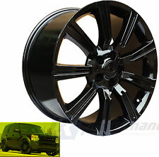 "20"" STORMER GLOSS BLACK ALLOY WHEELS & TYRES WHEELS FITS VW TRANSPORTER T5 T28"