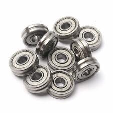 10pcs V623 603zz 5x16x5mm Metal V Groove Guide Pulley Rail Ball Bearings