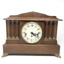 VINTAGE Emperor Mantle Clock Chiming Wood West Germany Hand Crafted 16x12x6 inch