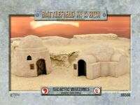Battlefield in a Box - Desert Buildings -=FULLY PAINTED=- Star Wars or Dust 1947
