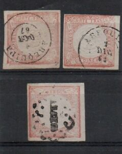 3 very nice early Peru imperf issues