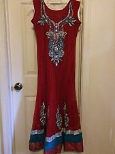 Bollywood Bridal Red Anarkali Salwar Kameez Indian Desi Choli Lengha Sari