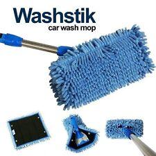 Car Truck RV Boat Washstik Microfiber Mop Wash Stik Kit Telescopic Pole w/ Cover