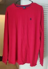 U.S Polo ASSN. Mens Long Sleeve Shirt Size Large, Red