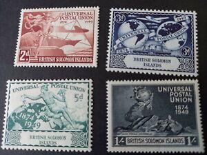 1949 KG VI  Universal Postal Union   British Solomon Islands   Mint Hinged
