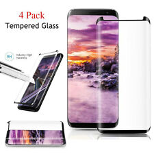 4 Pack Case Friendly Tempered Glass Screen Protector for Samsung Galaxy S8 Plus