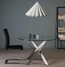 Design Esstisch Küchentisch Glastisch Esszimmertisch 120cm Rund Tisch Chrom Glas