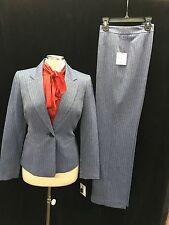 "KASPER PANT SUIT/PIN STRIPE SUIT/SIZE 14/INSEAM 32""/NEW WITH TAG/LINED/"